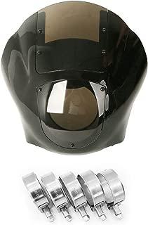 Detachable Quarter Fairing & Smoke Windshield w/45-50mm Fork Stainless Steel Clamp For Harley Sportster 883 1200 Dyna Fat Bob