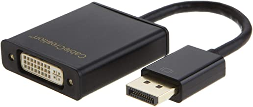 CableCreation Active DisplayPort to DVI Adapter DP to DVI-I Converter Eyefinity Multi-Screen Support 1080p, 15CM Black