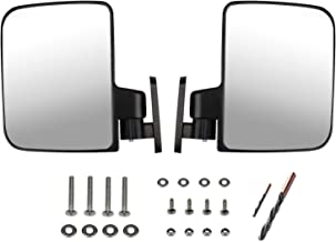 KEYI Universal Golf cart Side Mirrors for Club Car,Ezgo,Yamaha, Star, Zone Carts, and with Installation Tools fo(2 Drill bits) RHOX UTV Golf cart Accessories