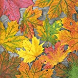 Servietten (2er Set / 40Stück) 3-lagig 33x33cm Herbst Herbstlaub Ahorn Blätter Maple Leafs