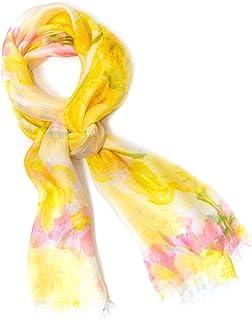 コンフィアンス 母の日 ギフト レディース 春夏 ストール スカーフ 大判 フラワープリント 花柄