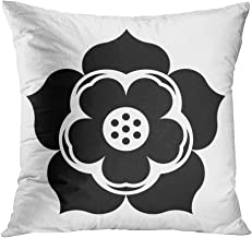 Houlor Throw Pillow Cover 20 X 20 Inches Glyph Lotus Flower Pixel Perfect Flower Icon Lotus Print Pillowcase Living Room Bedroom Dorm Car Hidden Zipper Home Decor Home Style Cushion Case