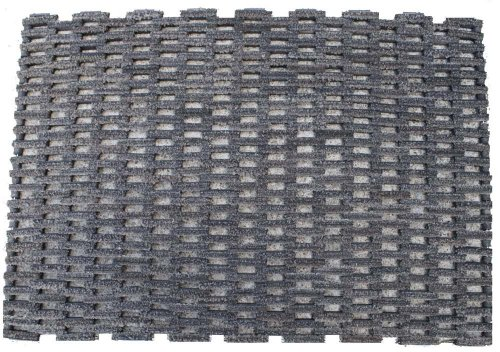 """Durable Dura-Rug Recycled Fabric Tire-Link Outdoor Entrance Mat, 24"""" x 36"""""""