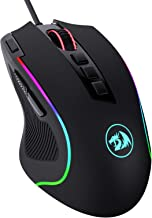 Redragon M612 Predator RGB Gaming Mouse, 8000 DPI Wired Optical Gamer Mouse with 11 Programmable Buttons & 5 Backlit Mode...