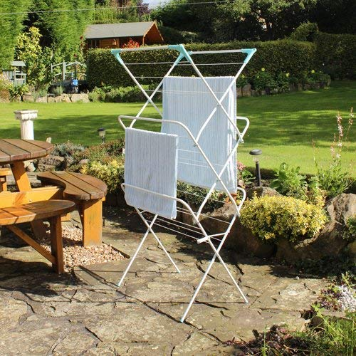 Peng Essentials New Arier Cloth Drying Stand/Foldable drying Racks/Rust Proof Cloths Drying Stand (silver) - 3-Tier