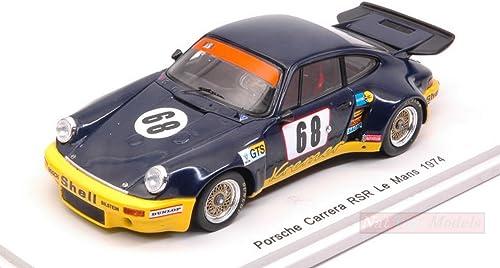 Spark Model S5087 Porsche voiturerera RSR N.68 DNF LM 1974 Heyer-Kremer-Keller 1 43 Compatible avec