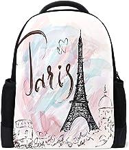 France Kisses from Paris Tourism Lunarable Drawstring Backpack Black Grey