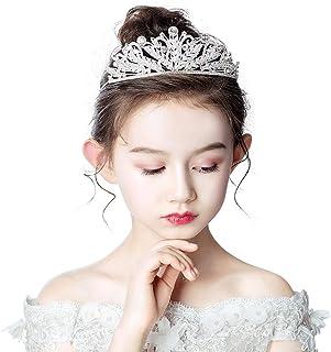 RKY Ragazze Corona, Corona Tiara Bambini Principessa Fascia Cute Girl Diadem Bambino Cristallo Ragazza di Fiore di Nozze A...