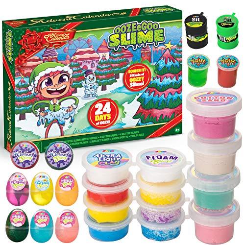 JOYIN 2020 DIY Slime Advent Calendar Christmas 24 Days Countdown Advent Calendar with Slime and Accessories 24 Days Surprises with DIY Slime Kit Slime Making Toy