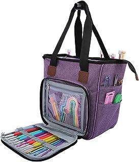 JKoYu Useful Storage & Organization Accessories for Home Portable Knitting Yarn Bag Storage Handbag Crochet Hook Needles S...
