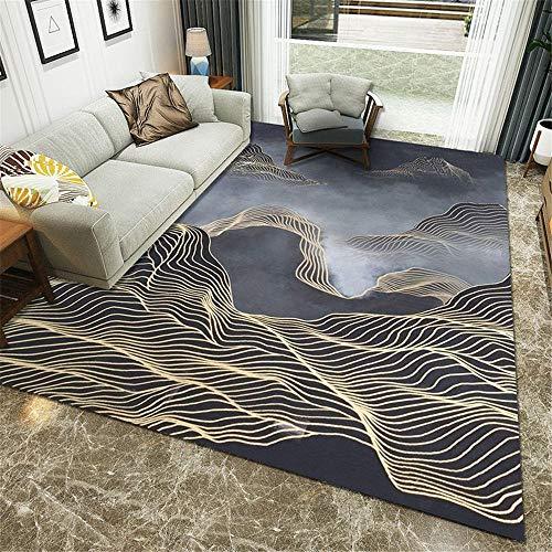 alfombras alfombras alfombra salon Alfombra de terciopelo de cristal de protección del medio ambiente utilizada en la sala de estar y la sala de estudio alfombra niños 120X160CM 3ft 11.2'X5ft 3'