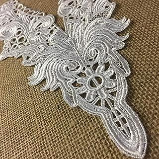 Yoke Applique Venise Lace V-Neck Elegant Neckpiece Embroidery Collar, 14