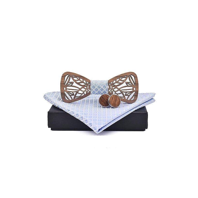 Wooden Bow Tie And Handkerchief Bowtie Necktie Tie Man