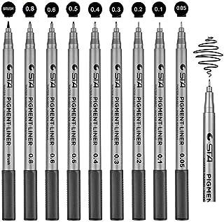 Schreiben Gifort 24 Farben Bullet Journal Stifte Set Skizzieren 0,4 mm Feine Filzstift Fineliner Stiften pigment Liner Set mit 10 Schablonen zum Malbuch Illustrieren Fineliner Stifte Zeichnen