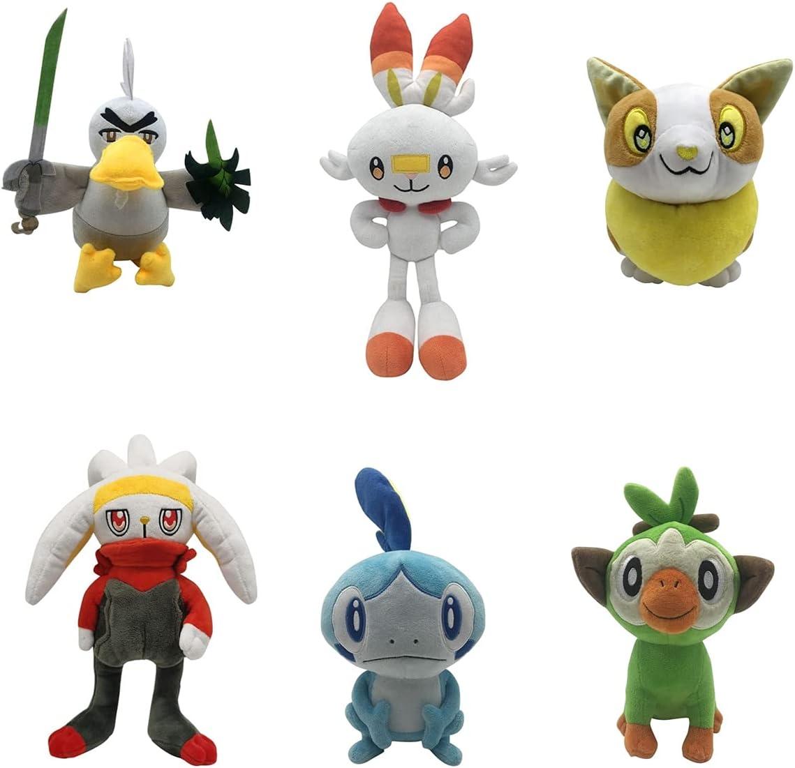 Now free shipping 6Pcs Pokemon Plush Sobble Scorbunny Elf Figure P Max 64% OFF Grookey Cartoon