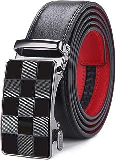 XsFireCow ベルト メンズ おしゃれ 長いベルト 130cm オートロック式 穴なし サイズ調整可能 革 紳士ベルト ロング ビジネス スーツ 仕事 ギフト用 BOXが付属