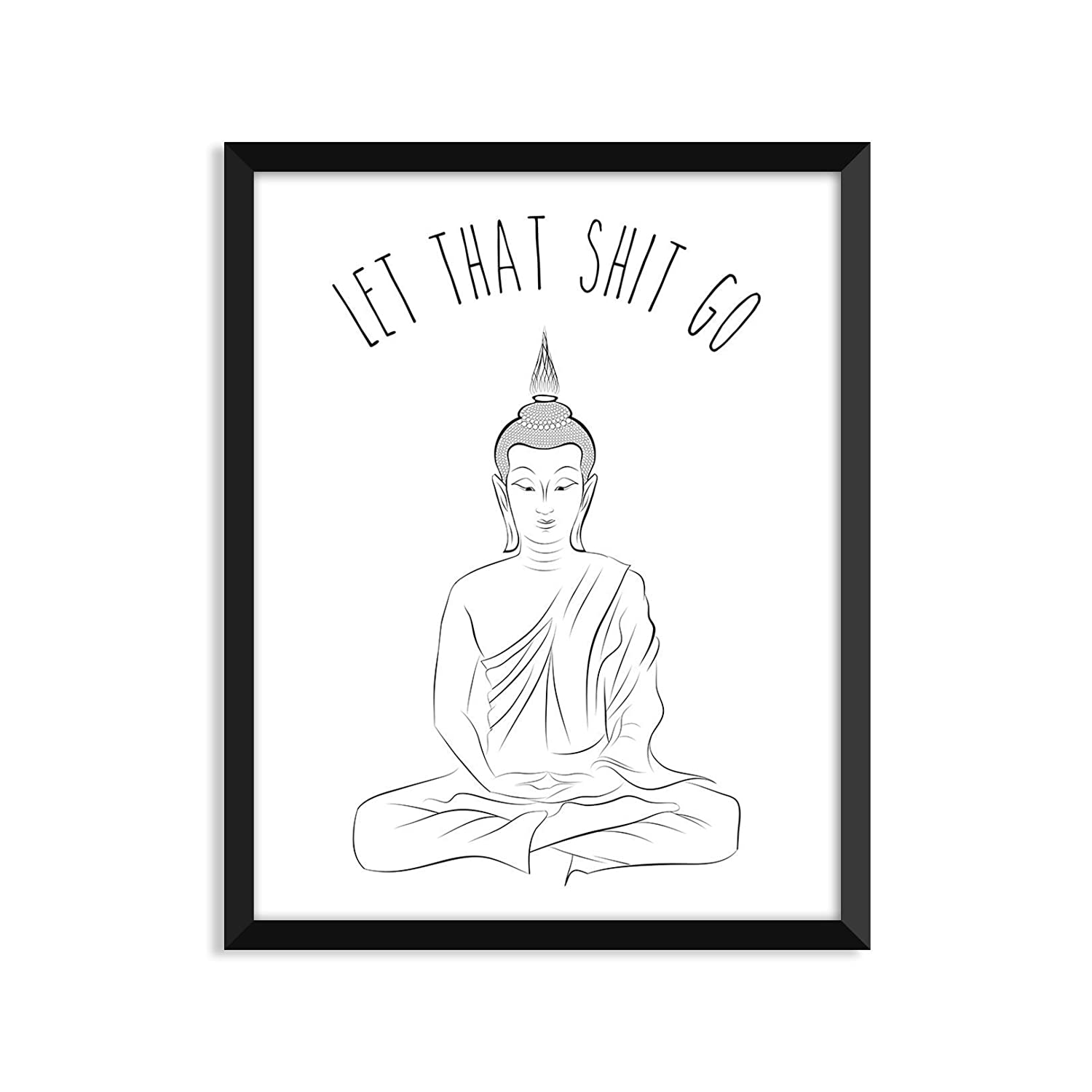 Let That Shit Go - Unframed greeting card Max 35% OFF 53% OFF print or art poster