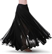ROYAL SMEELA Chiffon Belly Dance Skirt for Women Belly Dancing Costume Outfit Tribal Maxi Full Skirts Solid Color Skirt Voile