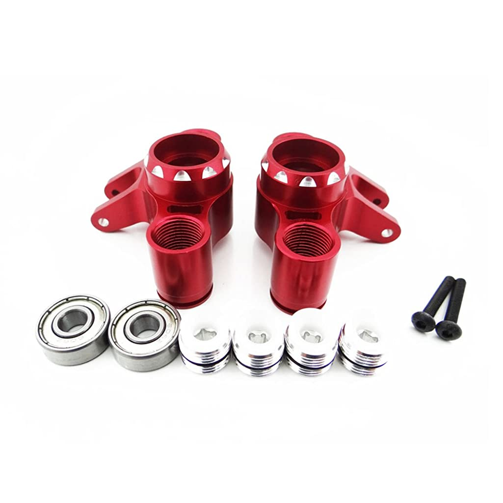 Atomik RC Traxxas T-Maxx 1:10 Aluminum Alloy Front/Rear Axle Carrier Hop Up Upgrade, Red Replaces Traxxas Part 5334R