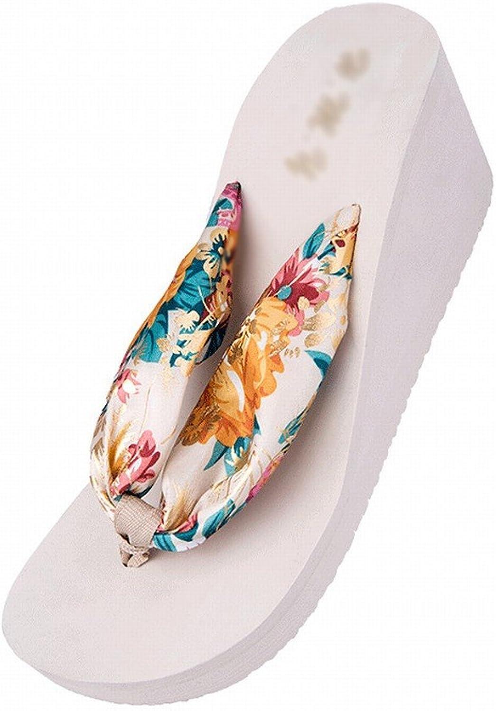SED Flip-Flops Summer Bohemian Silk Sandals Downhill Thick Cuff Slip Outdoor Slippers