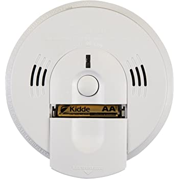 Kidde KN-COSM-IBA Hardwire Combination Smoke/Carbon Monoxide Alarm with Battery Backup and Voice Warning, Interconnectable (3-Pack, White)