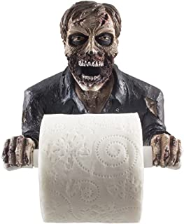 The Undead Graveyard Zombie Decorative Toilet Paper Holder in Scary Halloween Decorations As Bathroom Wall Decor Art & Plaques or Spooky Home Bath Decorating Accessories for Whimsical Novelty Gifts
