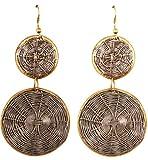 Touchstone Pendientes de joyería de diseño artesanal de diseño de canasta de hilo de tejido de alambre para mujer.