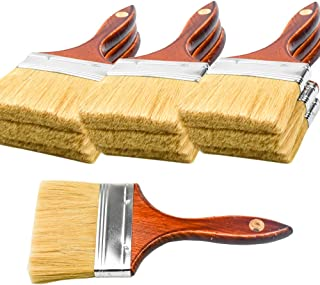 10PCS Chip Brushes Bulk Paint Brushes 4 inch for Paint, Stains, Varnishes, Glues, and Gesso