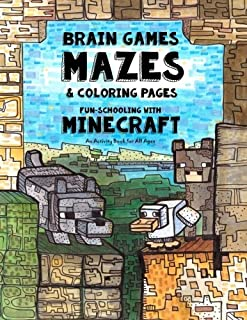 Brain Games, Mazes & Coloring Pages - Homeschooling With Minecraft: Dyslexia Games Presents an Activity Book - Great for C...