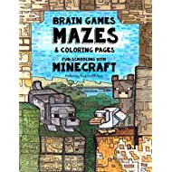 Brain Games, Mazes & Coloring Pages - Homeschooling With Minecraft: Dyslexia Games Presents an Activity Book - Great for Creative Kids with Dyslexia, ADHD, Asperger's Syndrome and Autism