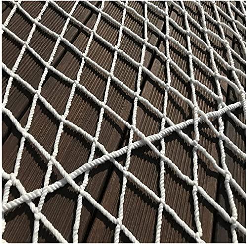 Amacthysh Kletternetz, Baumseilnetz, Outdoor-Spielset/Kindersicherheitsnetz, Frachtnetz, Kann für Treppen, Balkon, Fenster, Weiß verwendet Werden,2 * 4m/6.6 * 13.12ft