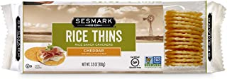 Sponsored Ad - Sesmark Gluten Free Rice Thins, Cheddar, 3.5 Ounce (Pack of 12)