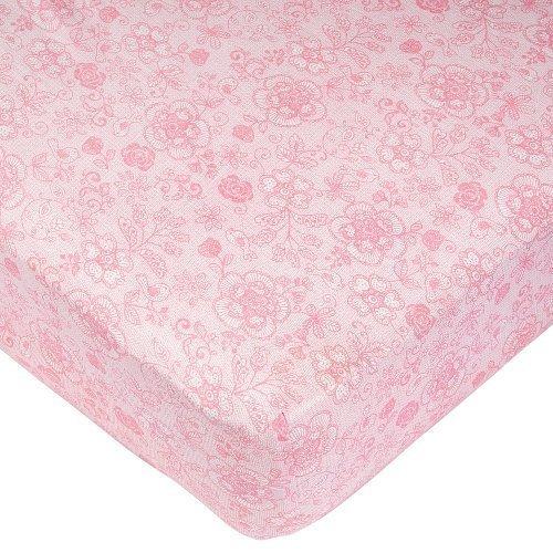 Babies R Us Lace Print Knit Crib Sheet by Babies R Us