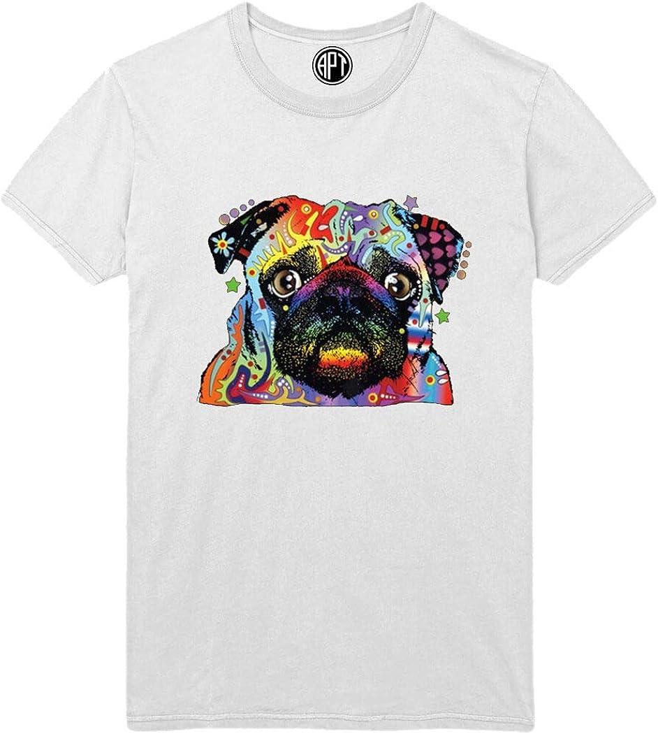 Pug Neon Colorful Printed T-Shirt