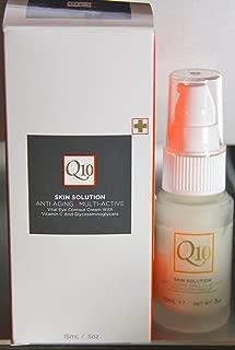 Q10 Skin Solution Anti Aging Multi Active Vital Eye Contour Cream With Vitamin C And Glycosaminoglycans .5 Oz.