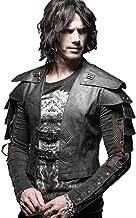 Punk Rave Mens Faux Leather Vest Jacket Coat Gothic Steampunk Armor Warrior Waistcoat Tops