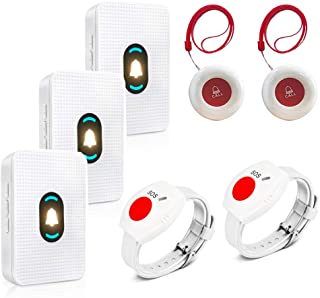 Sponsored Ad - Daytech Caregiver Pager System Call Button Personal Alert Pager for Home Elderly Attendant Patient Nurses S...