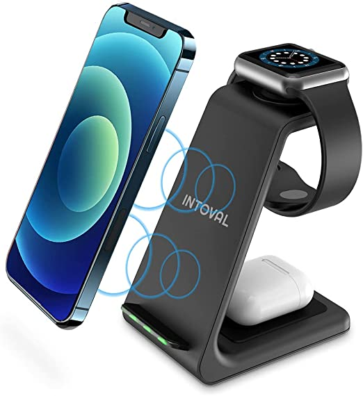 Intoval Wireless Charging Station 3 in 1 Charger for Apple iPhoneiWatchAirpodsiPhone 131211 Pro Pro MaxXSXRXSX8PlusiWatch 6SE5432Airpods with Wireless at Kapruka Online for specialGifts