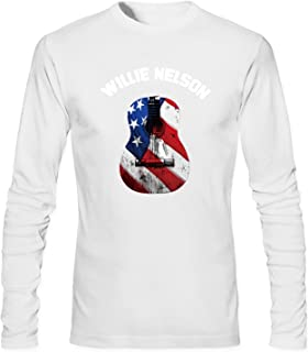 WOODO Men's Willie Nelson Trigger Poster Music Band Logo Long Sleeve T-shirt