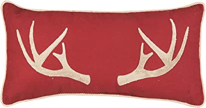 C&F Home Tufted Antler Pillow 12 x 24 Red