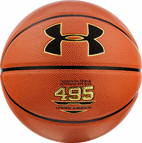 Buy Discount Under Armour 495 Indoor/Outdoor Composite Basketball, Orange, Size 29.5/Official Size/S...
