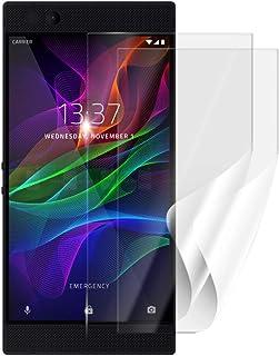 Skyddsfolie SCREENSHIELD för RAZER Phone RZ35-0215 [2 stycken, 2 versioner] – täcker skärmen med eller utan mobiltelefonsk...