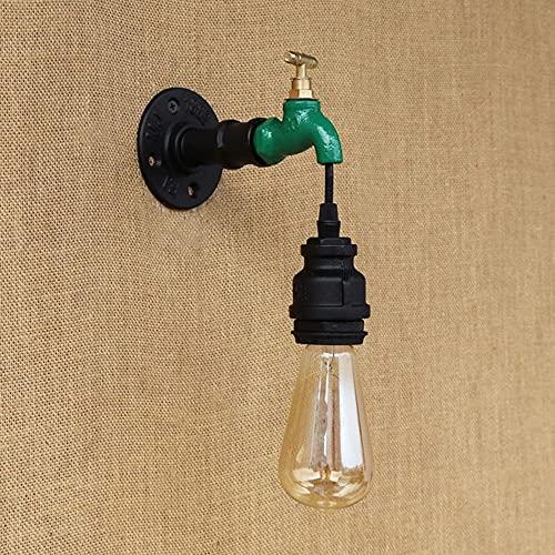 Lámparas de pared de calidad Tubería de agua Lámpara de pared Ático Simple Luz industrial Barra de viento Cafetera Restaurante Light Hotel House Decoración Lámpara Edison Bulbo Luz Lámpara de pared Pó