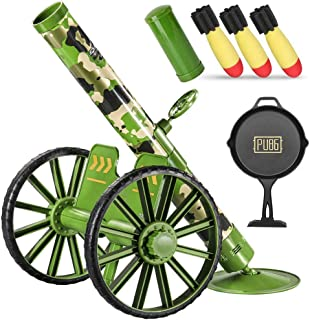 KoudHug Toy Mortar Launcher Set for Kids Blaster Shooting Games with 3 Safety LED Foam Shells, 1 Flat Target, 1 Loading Bucket, Sound Effect, Armory Toys Gift for Boys and Girls (Green)