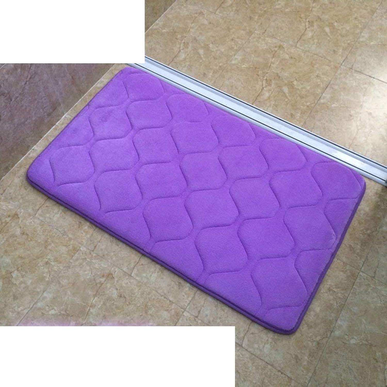 Comfortable Doormat Thicken mat Kitchen Toilet Suction gate mat Non-Slip mat (color   D, Size   40x60cm(16x24inch))
