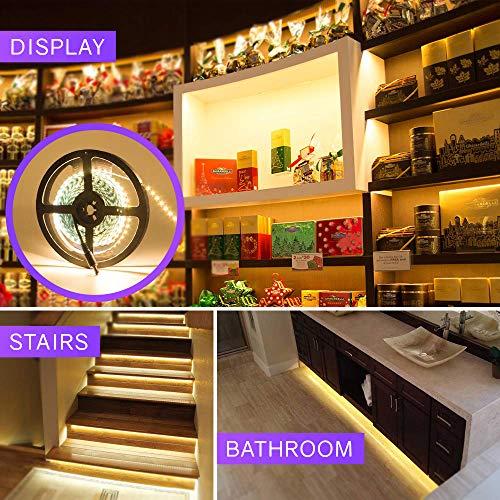 HitLights Warm White LED Strip Lights, UL-Listed Premium High Density 2835-16.4 Feet, 600 LEDs, 3000K, 44W, CRI 90+, 12V DC LED Tape Lights for Under Cabinet, Kitchen, Lighting Project