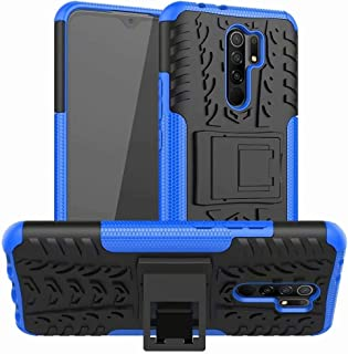 Soosos case for Xiaomi Redmi 9 Prime case With Kickstand hybrid heavy duty 2 in 1 Anti-fall protection Cover Hyun pattern ...