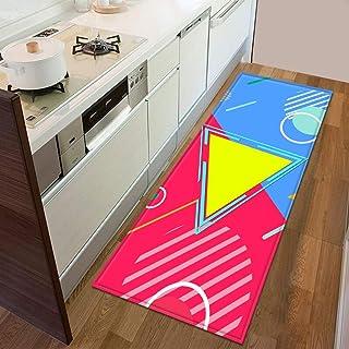 HLXX Kök golvmatta sovrum entré dörrmatta hem golv dekoration vardagsrum matta badrum halkfri matta A21 60 x 90 cm