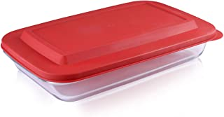 Bovado USA Rectangular Glass Bakeware 2.3 Quart with BPA-Free Lids | Superior Oblong Glass Baking Dish for Casseroles, Las...