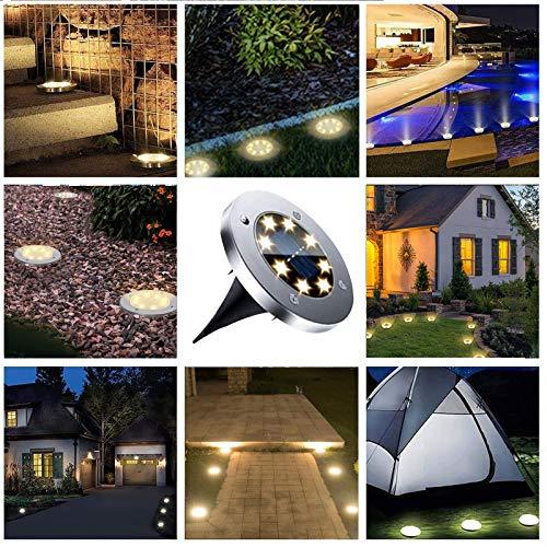 Solar Ground Lights, 12 Packs Waterproof Solar Garden Lights, Upgraded Outdoor Garden Waterproof Bright in-Ground Lights, Landscape Lights for Pathway,Yard,Deck,Lawn,Patio,Walkway